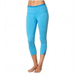 Prana Tori capri electro blue pants leggings S
